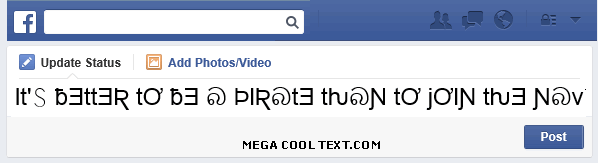 big bold text generator on Facebook