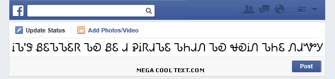 cool fonts online on Facebook