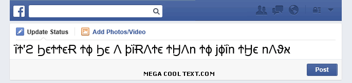 cool text generator copy and paste on Facebook