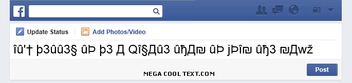 cool text generator symbols on Facebook