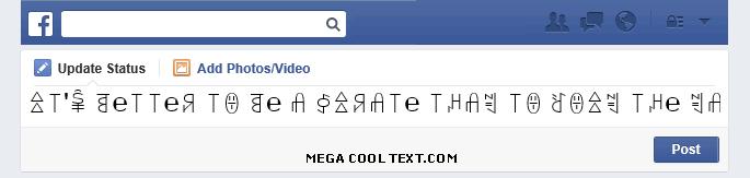 fonts generator online on Facebook